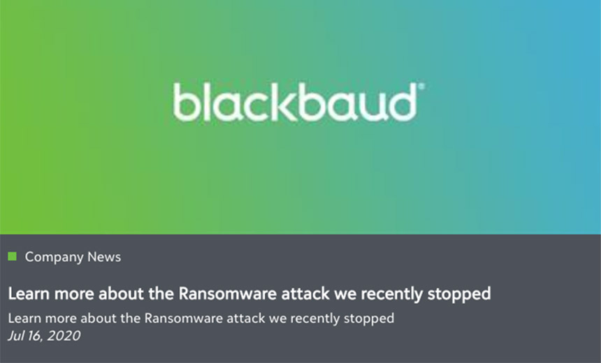 Blackbaud's Bizarre Ransomware Attack Notification