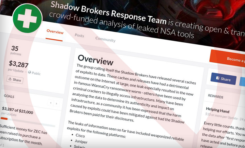 Canceled: Crowdfunding to Pay Shadow Brokers for Exploits