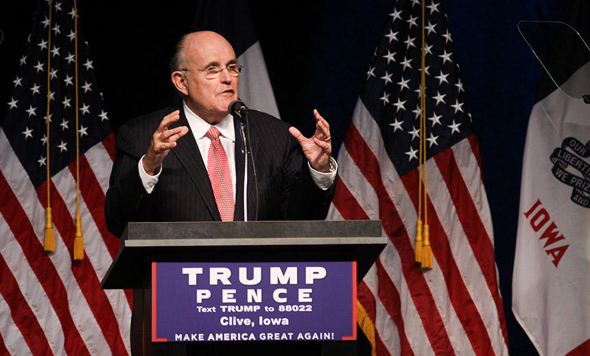 Donald Trump Taps Rudy Giuliani as Cybersecurity Adviser