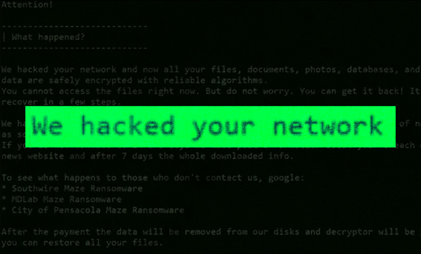 Maze Ransomware Attack Borrows RagnarLocker Hacking Move