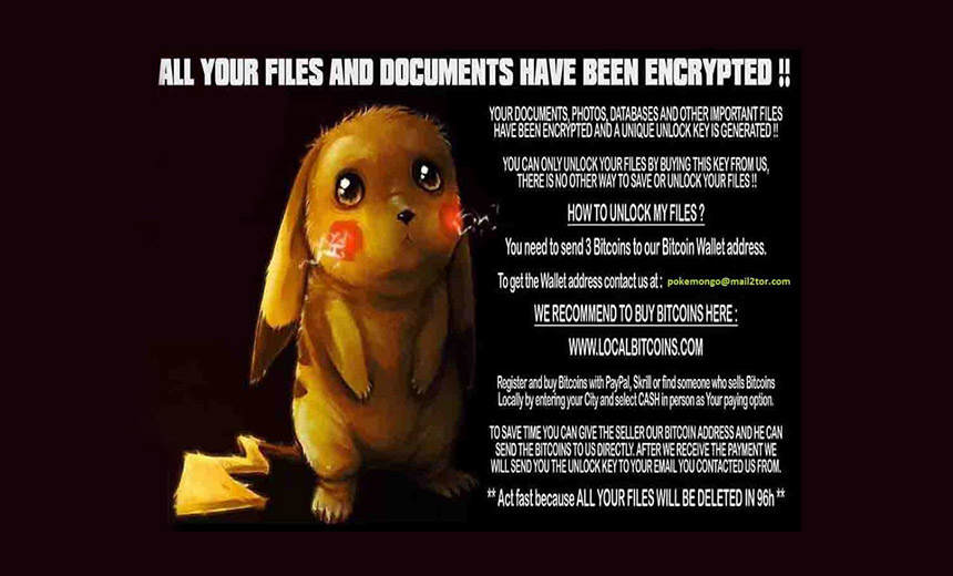 Ransomware Gets Pokémon Go Treatment
