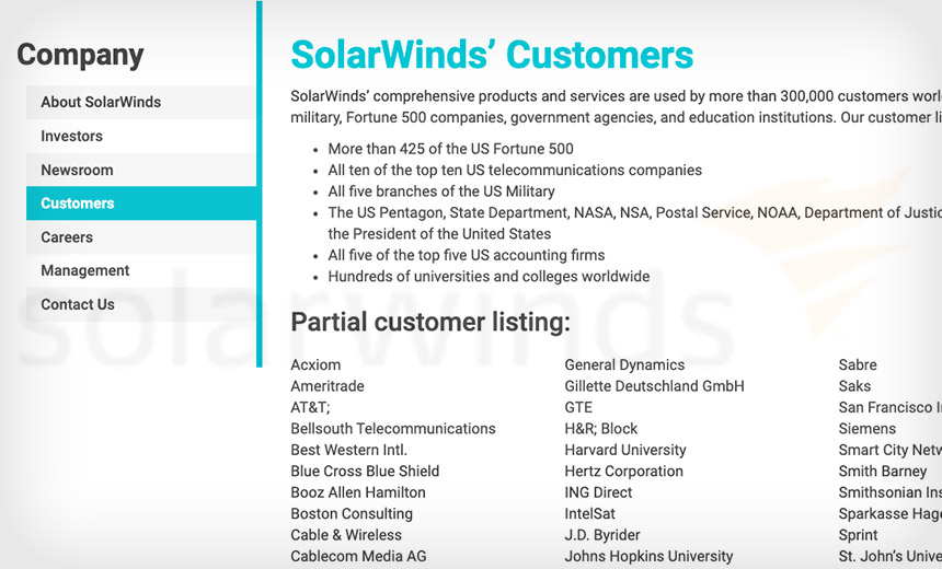 Target Selection: SolarWinds' Orion 'Big Fish' Most at Risk