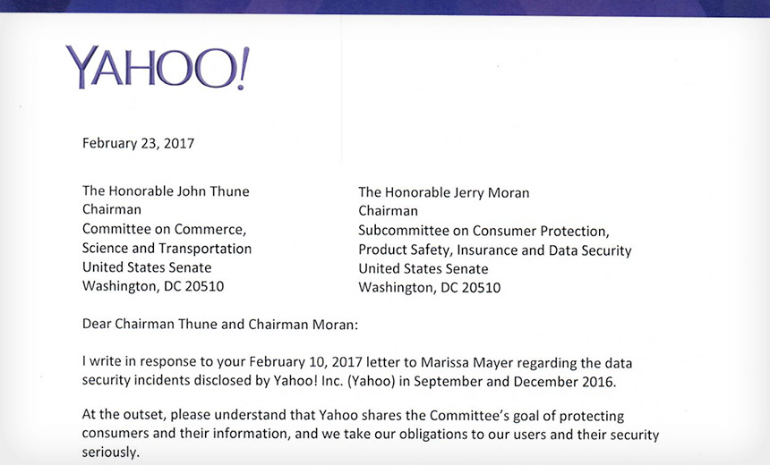 Yahoo Defends Information Security Mojo to Senators